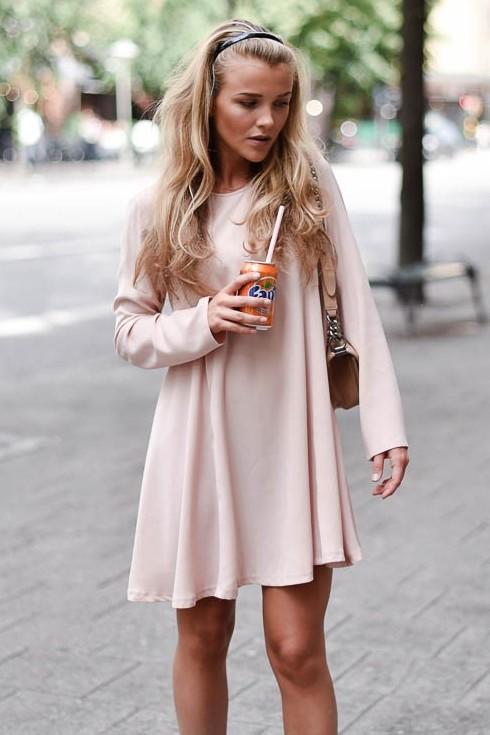 Need This pink full sleeve dress - SeenIt