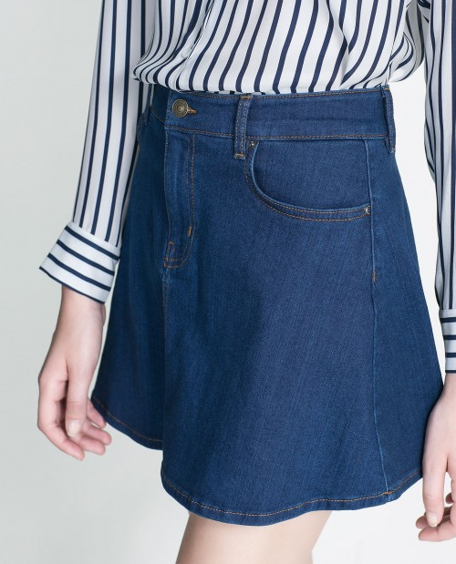 Similar to this denim skirt. Indian links preferable - SeenIt