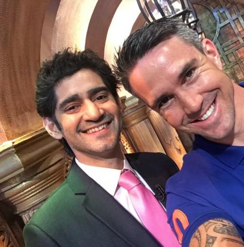 Want similar green blazer and pink tie as Gaurav Kapoor is wearing - SeenIt