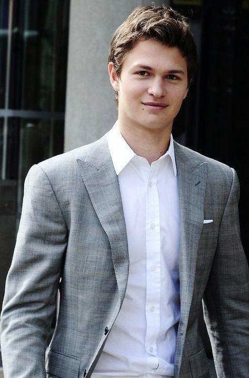 Need a similar grey blazer like Ansel Elgort is wearing. - SeenIt