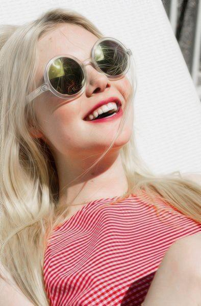 28e942a5b2 Looking for a similar round sunglasses like Elle Fanning is wearing. -  SeenIt