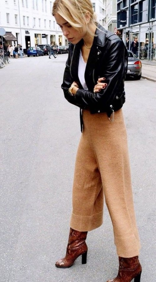 Those trousers and leather jacket! Indian sites only. - SeenIt