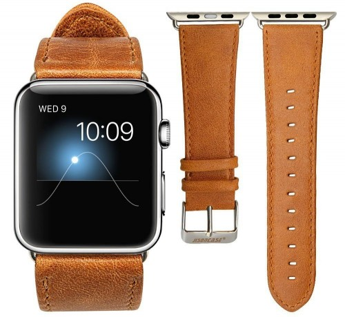 Looking for similar kind of tan strap for the Apple Watch - SeenIt