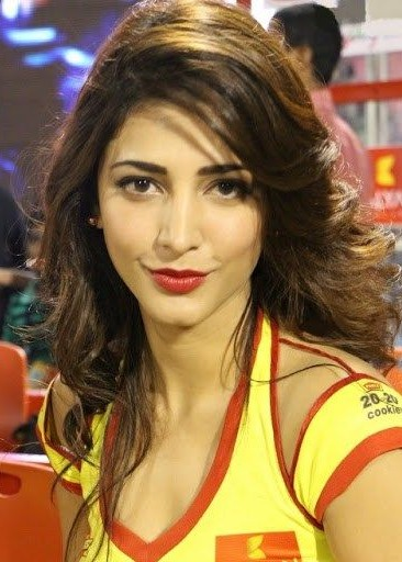Looking fro this red shade lipstick that Shruti Hassan is wearing - SeenIt