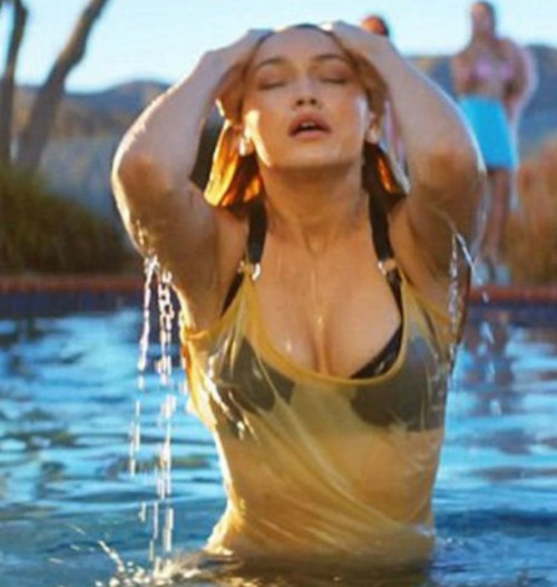 Looking for the similar bra/swimwear & the white dress Gigi is wearing in this video - SeenIt