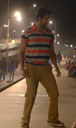 Looking for this multicoloured stripes t-shirt and beige pants as Ayushmann Khurrana is wearing - SeenIt