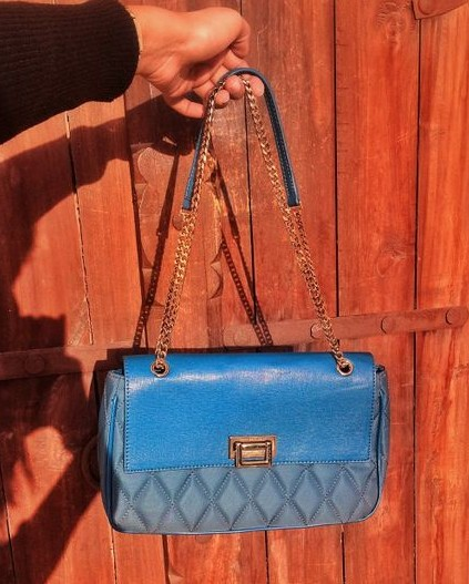 Want this blue quilted shoulder bag. Any idea where to find it? - SeenIt