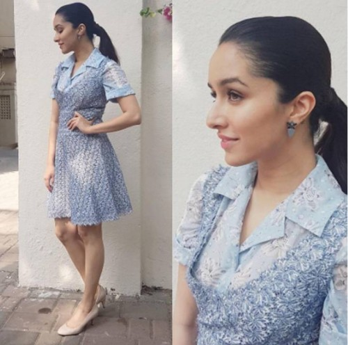 Yay or Nay? Shraddha Kapoor in this blue lace dress - SeenIt