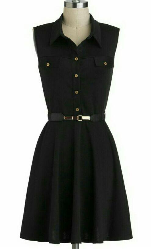 Want a black flared dress - SeenIt