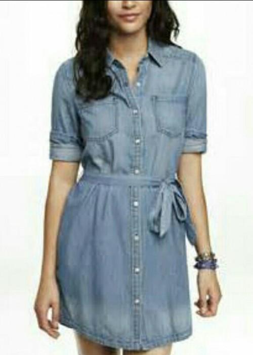 Want a denim shirtdress - SeenIt