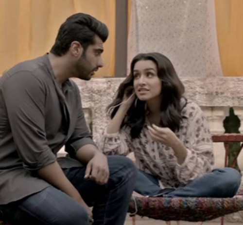 Looking for this white printed peasant top with blue jeans that Shraddha Kapoor is wearing - SeenIt