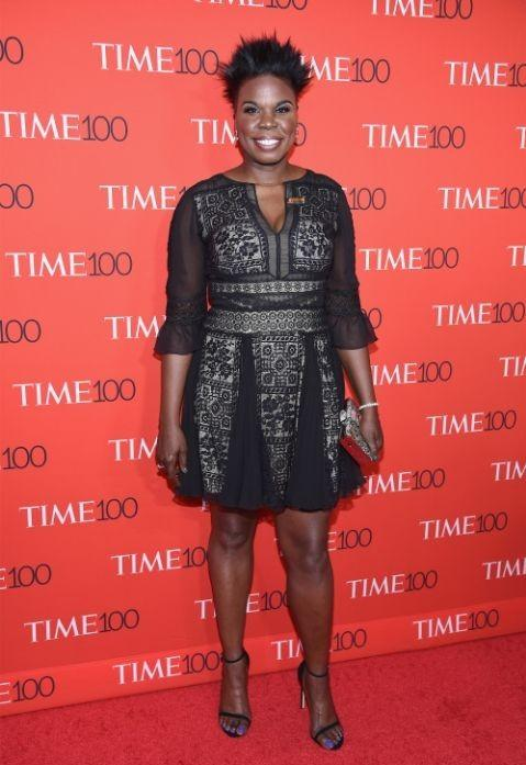 Yay or Nay? Leslie Jones in a black lace detailed dress at the Time 100 Gala 2017. - SeenIt