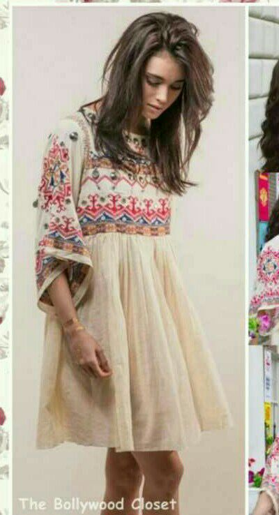 Want this cream embroidered dress - SeenIt
