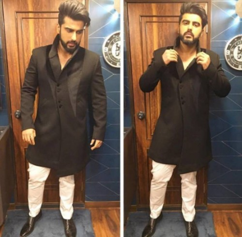 Want this black kurta set that Arjun Kapoor is wearing - SeenIt