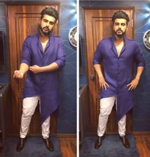 Yay or NAy? This purple asymmetrical kurta that Arjun Kapoor is wearing - SeenIt