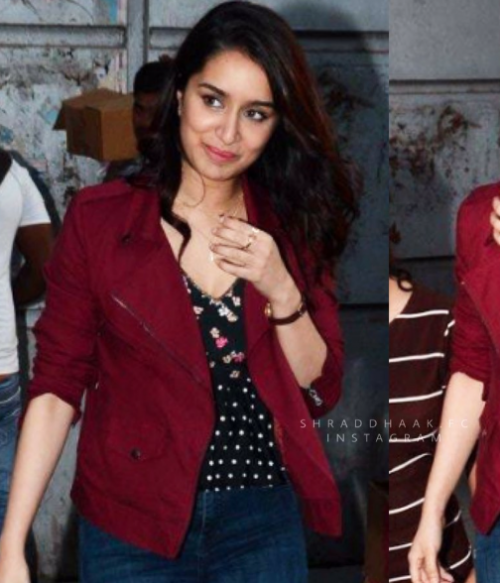 Want the maroon jacket which Shraddha Kapoor is wearing - SeenIt
