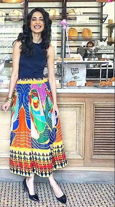 This multicolor printed midi dress that Sarah Jane Dias is wearing!! - SeenIt