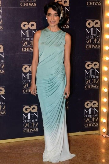 Yay or Nay? Sarah Jane Dias in a sleek blue ombre gown. What do you think of her look? - SeenIt