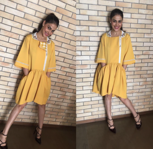 Yay/Nay? What do you think about the yellow summer dress that Genelia D'Souza is wearing? - SeenIt