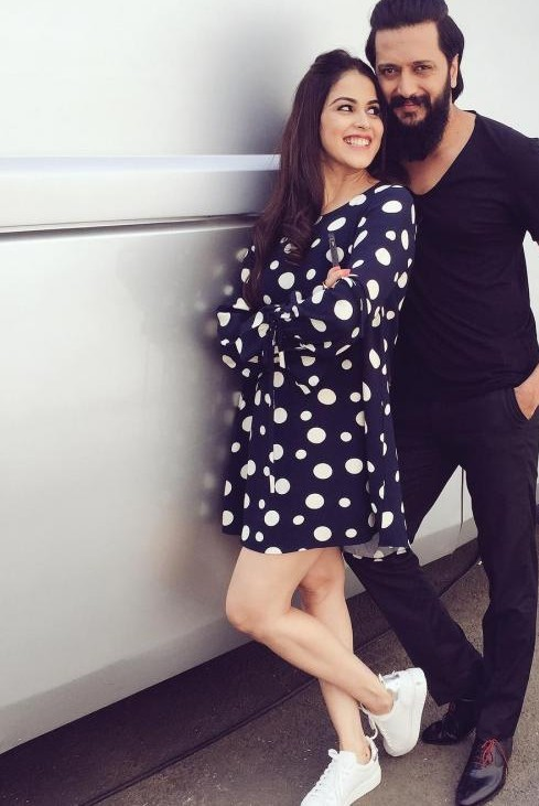 Looking for similar polka dot dress with white sneakers like Genelia D'souza and a bag to match along - SeenIt
