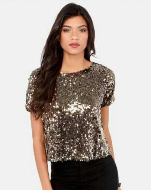 A similar sequin top at reasonable price. TIA :) - SeenIt