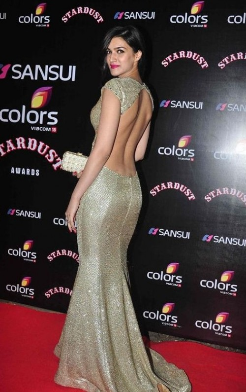 Yay/Nay? What do you think about this golden backless gown sported by Kriti Sanon? - SeenIt