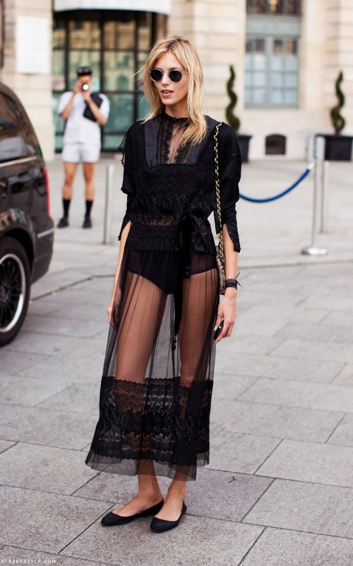 Similar dress in black or white - SeenIt