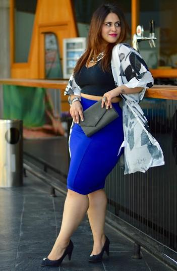 How to royal wear blue pencil skirt new photo