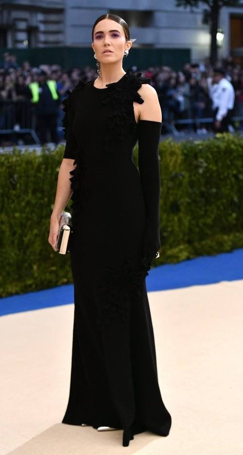 Yay or Nay? Mandy Moore spotted in a black gown at the Met Gala 2017. - SeenIt