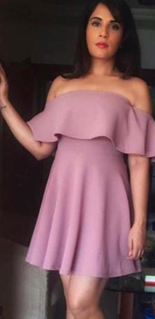 bc65fc20ebfd Looking for a similar pastel pink off shoulder dress like the one spotted  on Richa Chadda