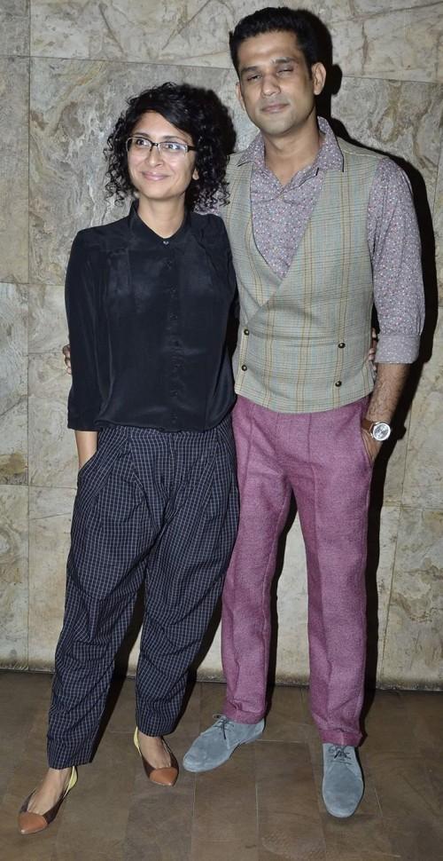 Looking for similar black loose pants, black velvet shirt and coloured ballerinas as seen on Kiran Rao - SeenIt