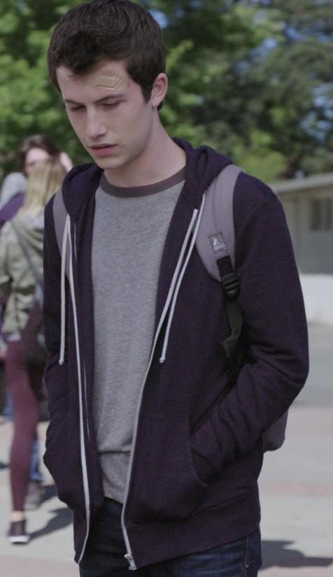 Want a similar zipper sweatshirt like Clay Jensen wore. - SeenIt