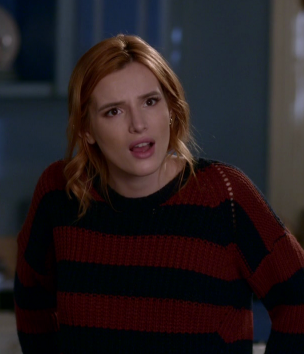 Paige's red and black striped sweater please!! - SeenIt