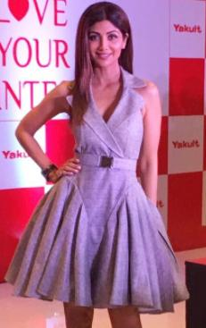 Looking for a similar grey fluffed up dress as seen on Shilpa Shetty - SeenIt