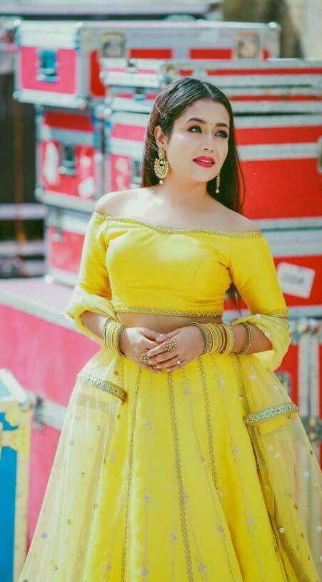 9e8035366940a Looking for this yellow lehenga with off shoulder blouse. - SeenIt