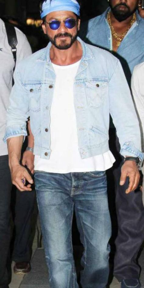 Image result for shahrukh denim shirt