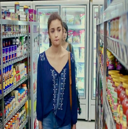 want this blue top that Alia is wearing - SeenIt