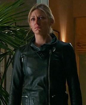 Looking for a similar black leather jacket like Josslyn is wearing. - SeenIt