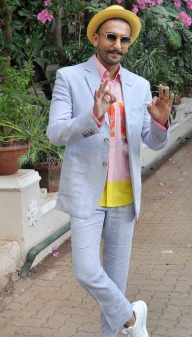 Looking for a similar powder blue suit as spotted on Ranveer Singh - SeenIt