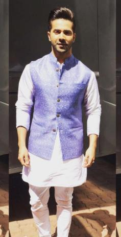 Shop diwali2017, varundhawan, jacket, kurta, outfit on ...