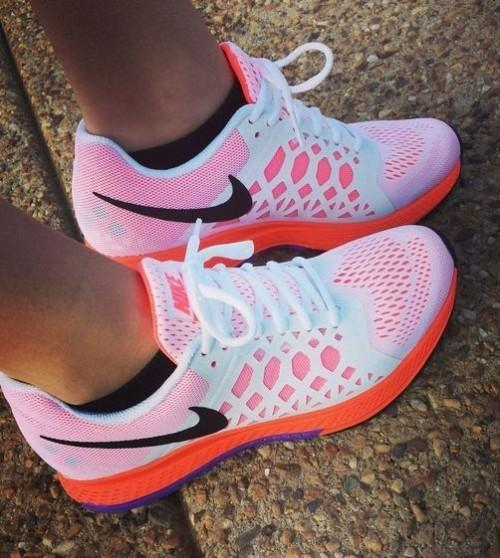 Looking for these pink white running sneakers - SeenIt