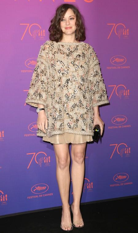 Yay or Nay? Marion Cotillard spotted in an embellished short dress during the Cannes 2017. - SeenIt