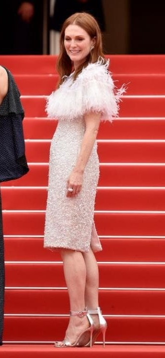 Yay or Nay? Julianne Moore wearing a fur and sequin embellished dress at the Wonderstruck Premiere during the Cannes Film Festival - SeenIt