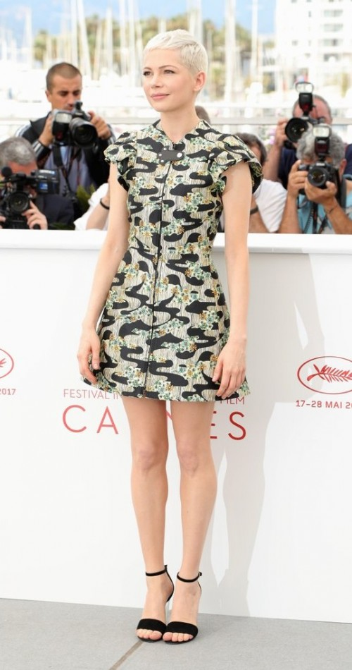 Yay or Nay? Michelle Williams wearing a short dress at the Wonderstruck Photocall during the Cannes Film Festival - SeenIt