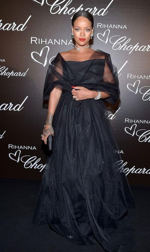 Yay or Nay? Rihanna wearing a strapless gown at the Chopard party during Cannes Film Festival - SeenIt