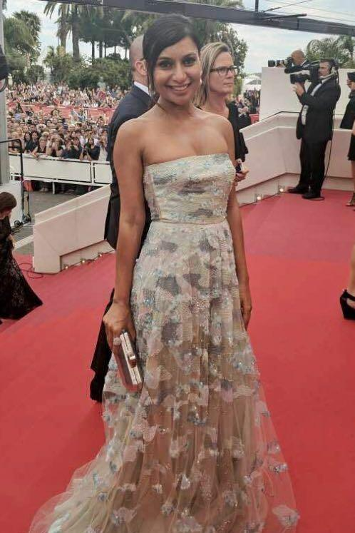 Yay or Nay? Blogger Miss Malini wearing a Shehla Khan gown at the Opening ceremony of Cannes - SeenIt