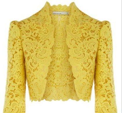 Want a similar yellow net jacket - SeenIt