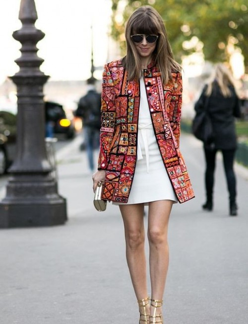 Want a similar red embroidered boho jacket - SeenIt