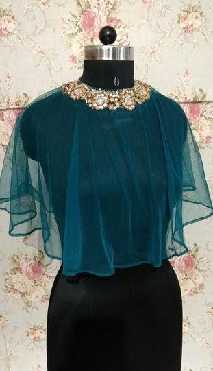 can u find similar cape ..with embellished neck line - SeenIt