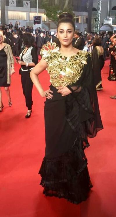 Yay or Nay? Shruti Hassan wearing an Abu Jani outfit at the Cannes Red Carpet this year - SeenIt